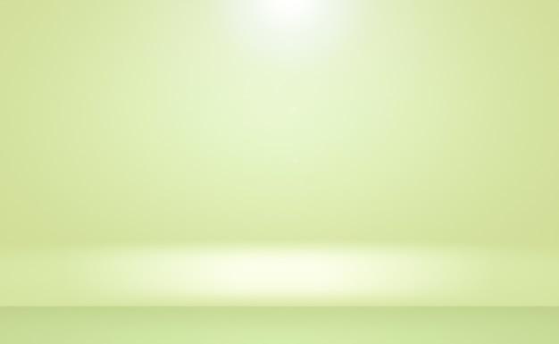 あなたのテキストと写真のためのスペースと豪華なプレーングリーングラデーション抽象的なスタジオ背景空の部屋