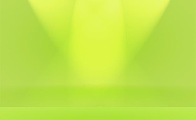 Lusso pianura verde sfumato astratto studio sfondo stanza vuota con spazio per il testo e l'immagine.