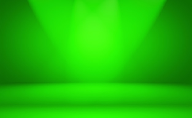 Luxury plain green gradient abstract studio background empty room with space for your text and picture