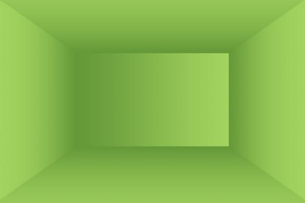 豪華なプレーングリーングラデーション抽象的なスタジオの背景