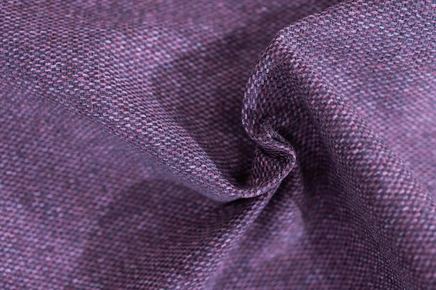 Luxury purple fabric sample close-up