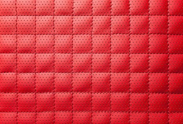 Luxury red leather texture Premium Photo