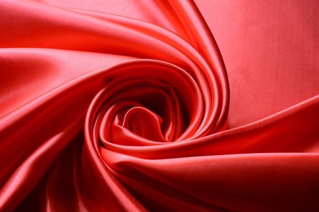 Luxury red wavy silk background texture