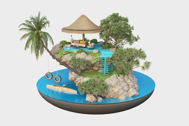 작은 섬의 럭셔리 리조트, 여름 휴가