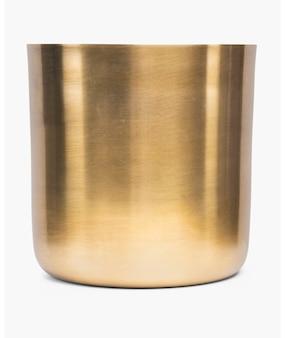 Luxury round brass plant pot
