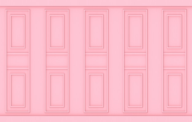 Luxury sweet soft pink classical pattern wood wall background