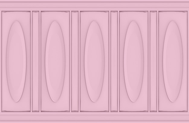 Luxury sweet soft pink oval classical pattern wood wall background