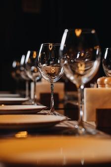 Luxury tableware beautiful table setting in restaurant