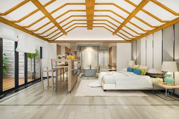 Роскошный люкс с тропической спальней в курортном отеле и курортном отеле