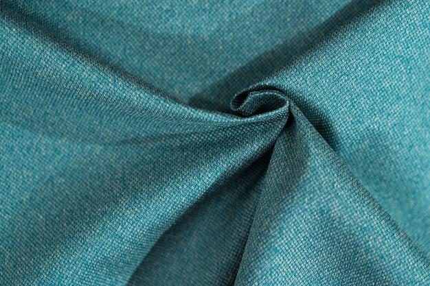 Luxury turquoise fabric sample close-up