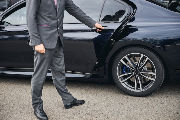 Luxury vehicle provided for a private airport transfer