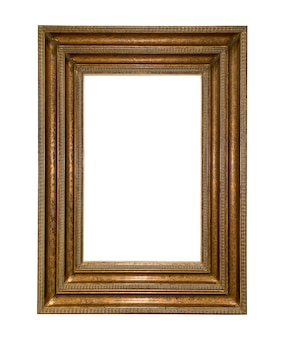 Роскошная винтажная золотая рамка для фотографий изолирована
