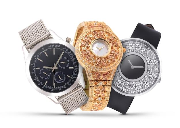 白の高級時計
