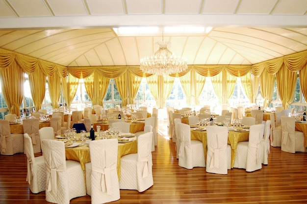 Luxury wedding venue interior