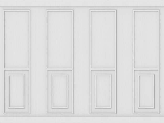Luxury white classical pattern wood wall background