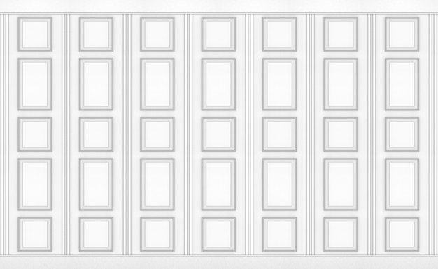 Luxury white classical square pattern wood vintage design wall texture background.