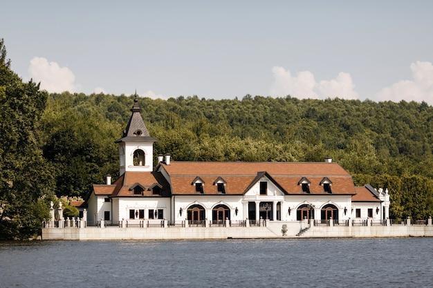 Luxury white villa near the river near