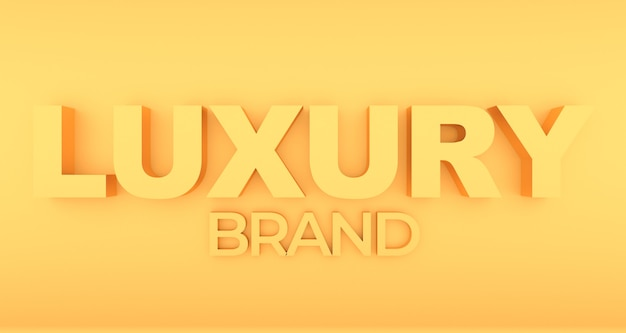 Luxury wording with gold effect