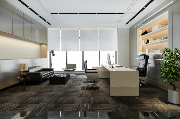 Luxury working room in executive office