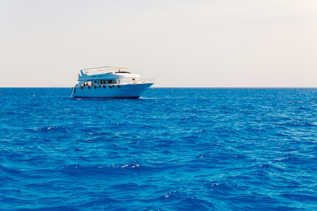 Luxury yacht on the sea