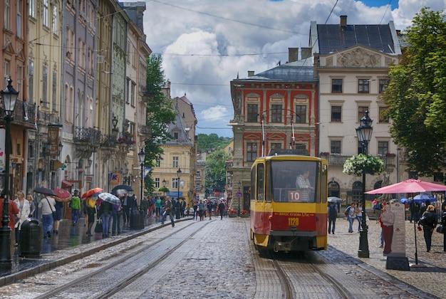Lviv - june 4, 2013: lviv - the historic center of ukraine, a city with ancient architecture.
