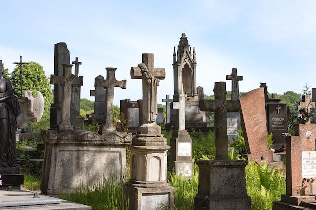 Lychakiv cemetery in lviv, ukraine