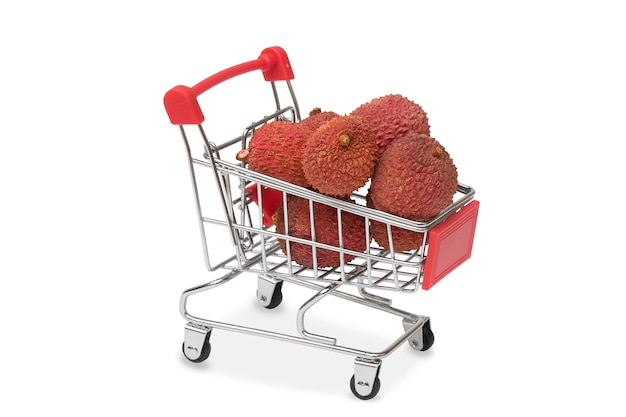 Lychee in the supermarket cart