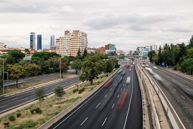 マドリードのm30高速道路