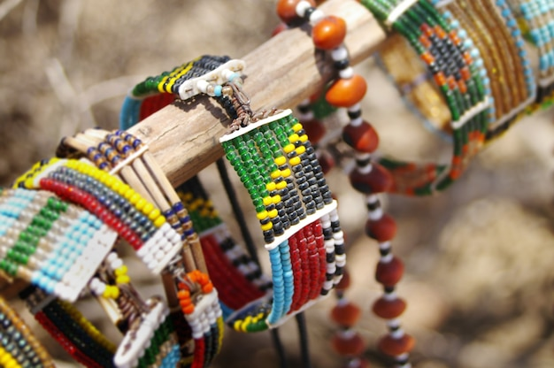 Maasai hand crafted jewelery and ethnic decoration