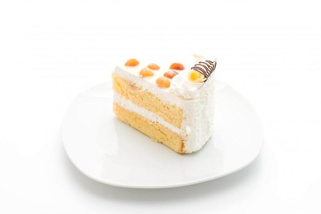 Macadamia cake isolated
