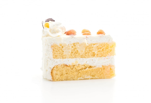 Macadamia cake isolated
