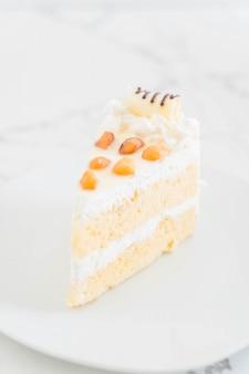 Macadamia cake on plate