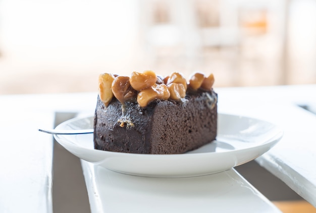 Macadamia chocolate cake
