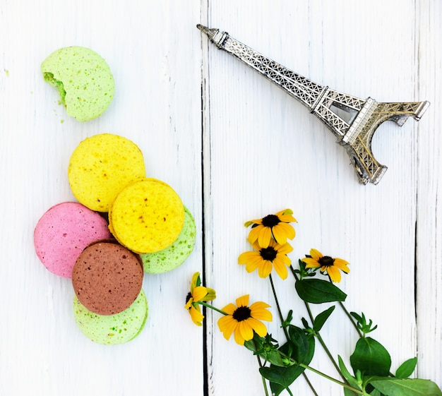 Macarons made from egg whites and almond flour