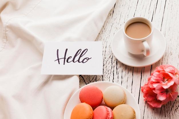 Macarons на завтрак и кофе