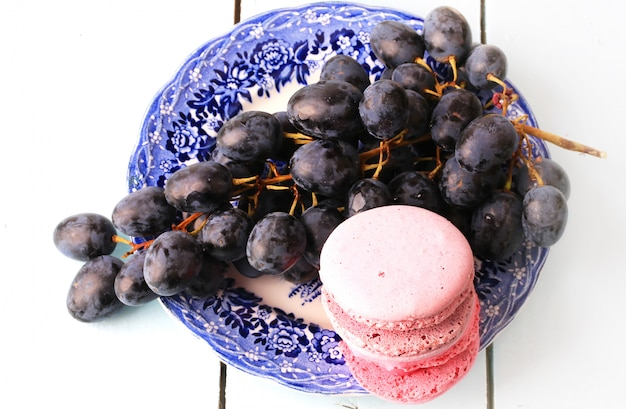 Macaroon grape toned photo gentle retro background