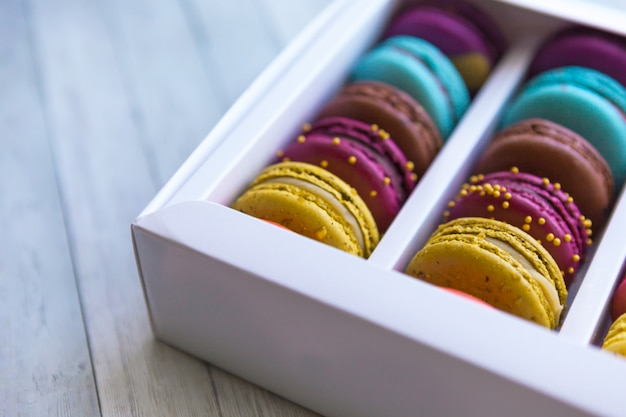 Macaroons cookies any types of colour