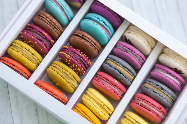 Macaroons cookies any types of colour.