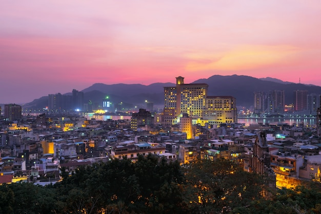Macau city view at twilight