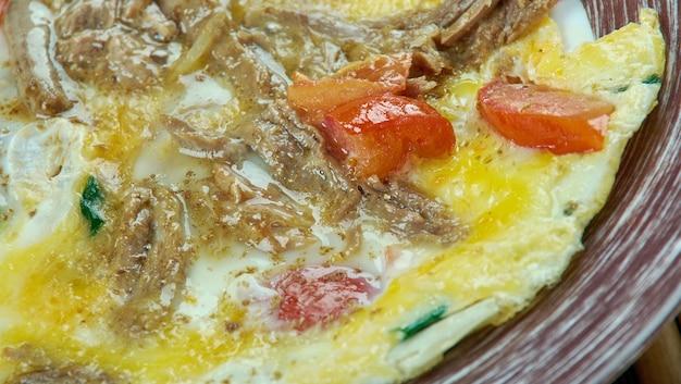 Machacado con huevo 멕시코 요리