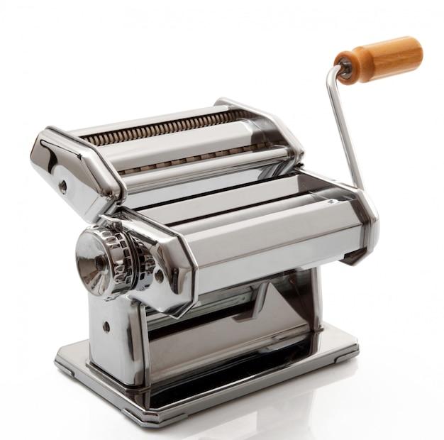 Machine for pasta on white background