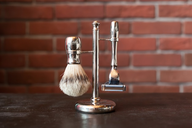 Machine for shaving and brush