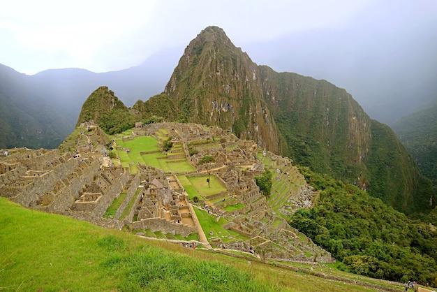 페루 쿠스코 지역, 소나기 후 마추 픽추 고대 잉카 성채