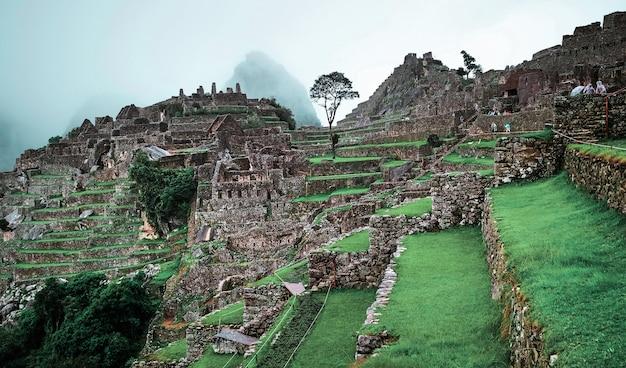 Пейзаж храма мачу-пикчу