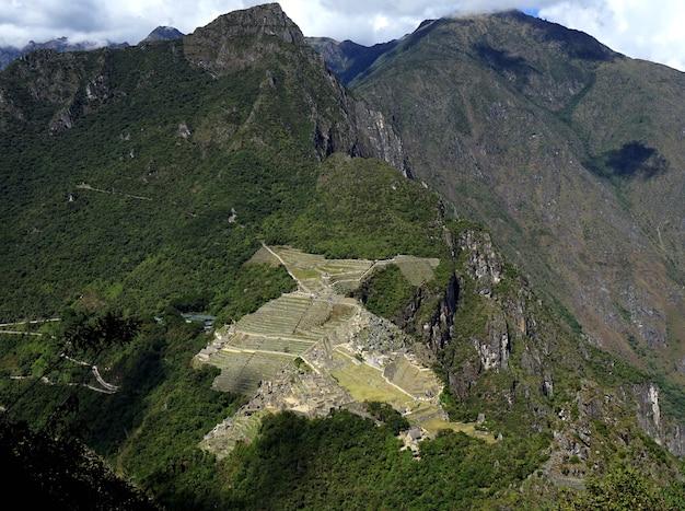 Machu picchu top view from huaynapicchu.