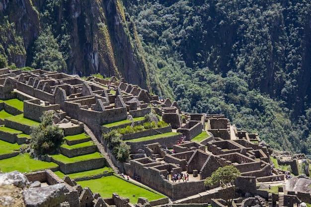 페루의 유네스코 세계 문화 유산 인 마추 픽추.