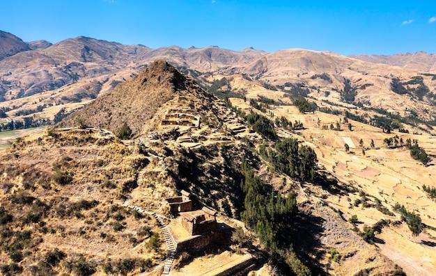 ペルーのマチュピトゥマルカ古代インカの町