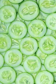Macro cucumberfresh slice cucumber on background