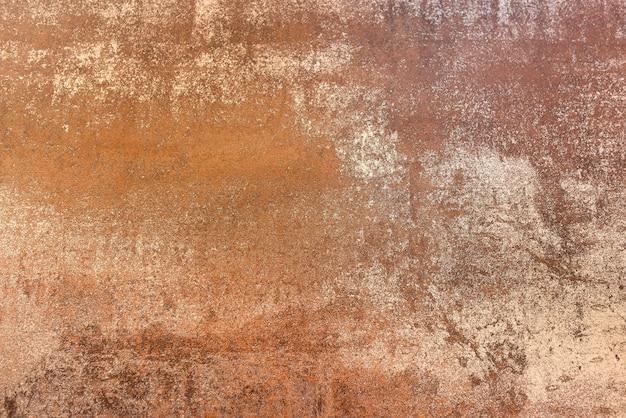 다양한 색상과 질감을 볼 수 있는 녹슨 판금의 매크로 세부 사항