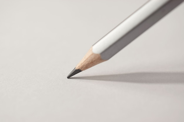Macro detail of a pencil graphite on a white background